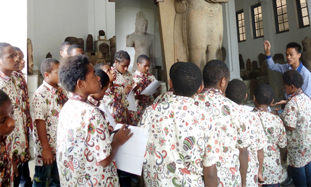 Karya wisata-museum gajah-sai-sekolah anak indonesia-pendidikan daerah tertinggal-anak papua