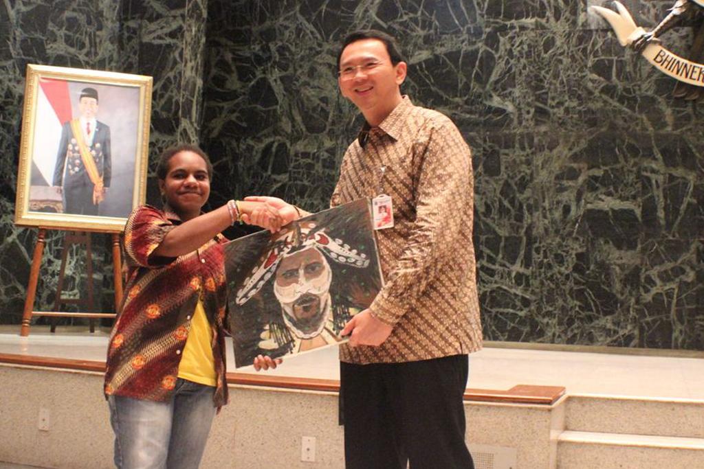 bertemu ahok+sai+sekolah anak indonesia+sekolah papua+papua+ahok+study wisata